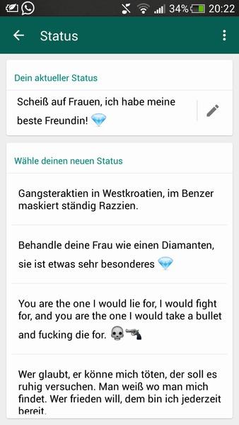 Zag Ask Dein Süßen Whatsapp Status Askfm