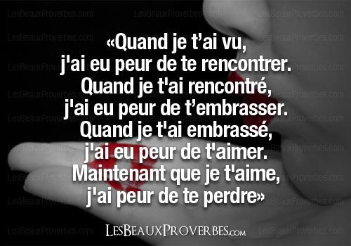 Texte Pour Mon Copain Que Jai Peur De Te Perdre Stp