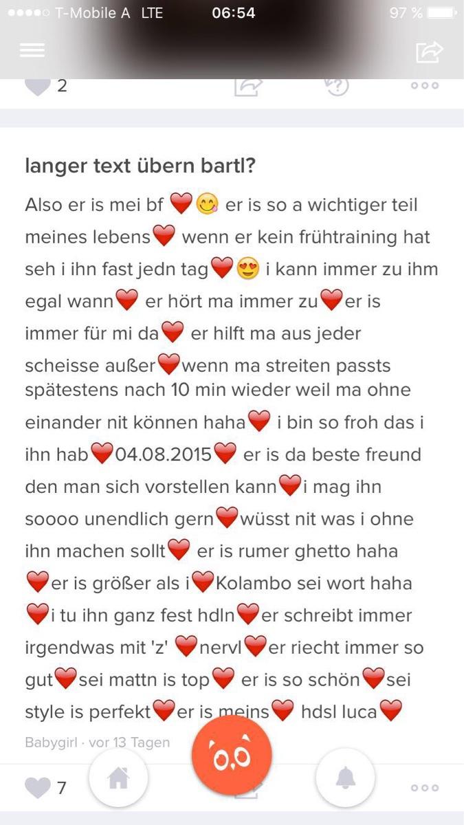 Langer Text