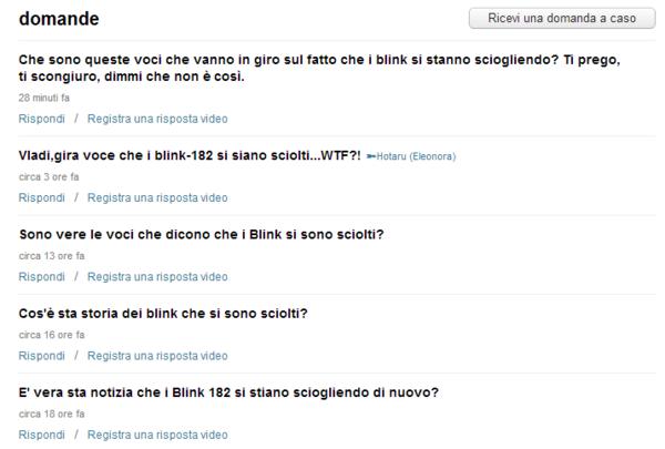 Blink 182 Italia Blink182italia Likes Askfm