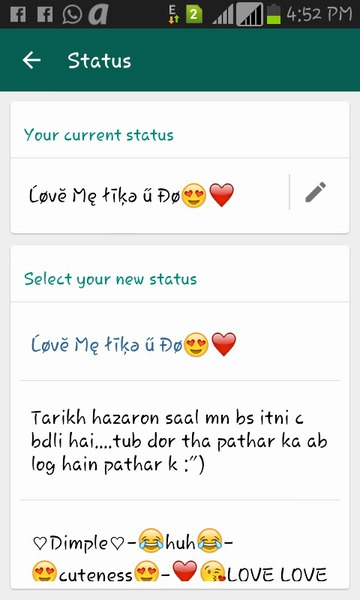 Pap Your Current Whatsapp Status Staif Askfmgullzareen