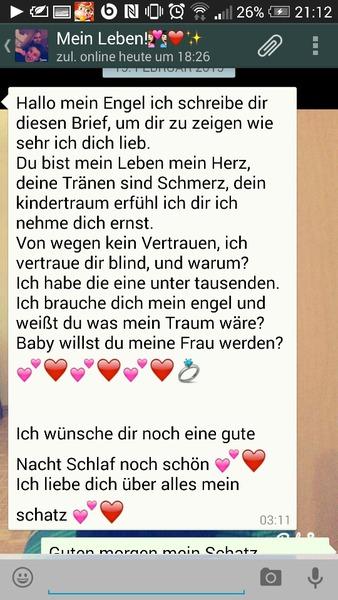 Süßer liebes text